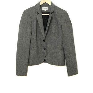 Calvin Klein Gray Wool Blend Suit Jacket 10